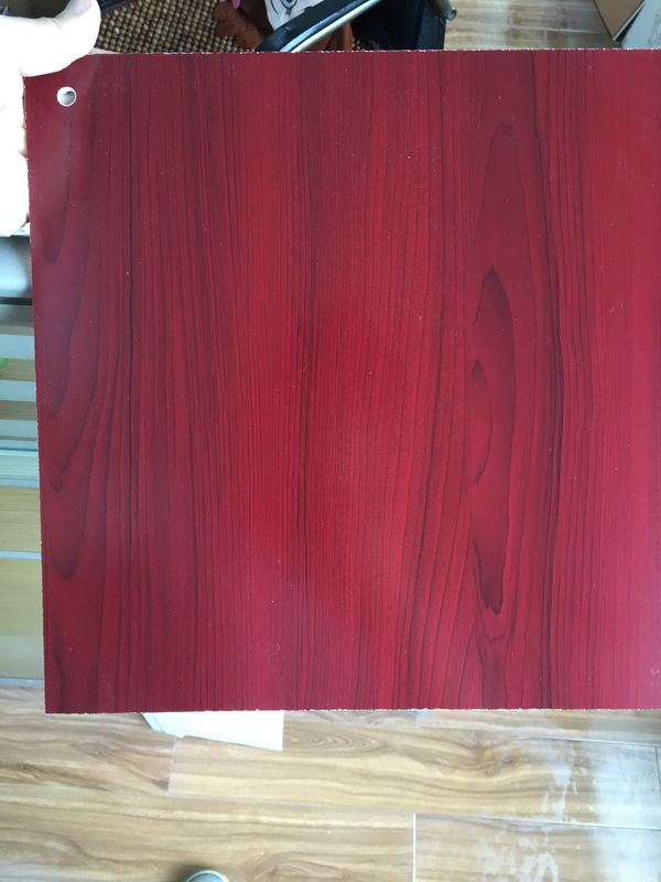 PVC Faux Wood Laminate Sheets Low Carbon Glossy Printing 1220×2440 mm