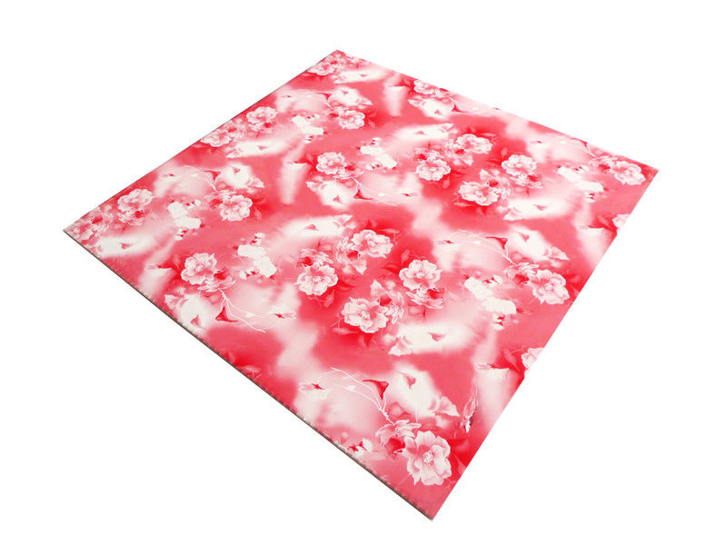 Commerical Artistic PVC Ceiling Boards Transfer Printing Impact Resistant