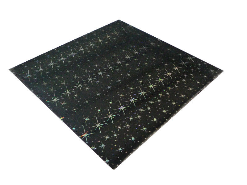 ISO Black Shiny Rectangle PVC Ceiling Panels For Bathrooms 2.2Kg - 2.8Kg Per Sqm