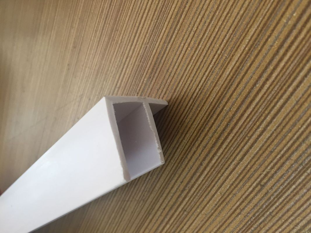 Grain PVC Extrusion Profiles Glossy Surface Finish Low Maintenance